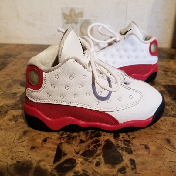 d5af874cdc3ccf Jordan Other - Nike Air Jordan Retro 13 XIII White Red Size 8C